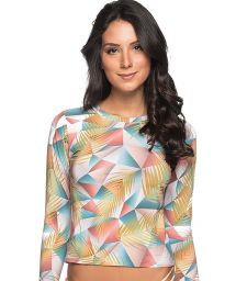 Geometric pastel long sleeve rashguard - TOP LONGA GEOMETRIC ART