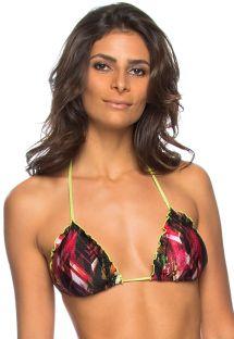 Triangle bikini top wavy edges lime green edges - TOP MUSGO
