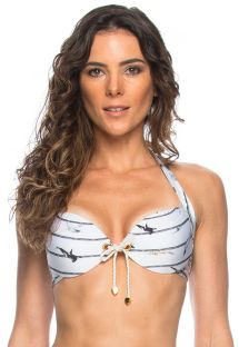 Marine-style push-up top with cord and eyelets - TOP NAUTICO ILHOS