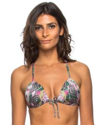 Ethnic floral padded adjustable bikini top - TOP PENEDO