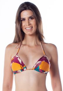 Ripple colorful print triangle top -  TOP RIPPLE RAMA