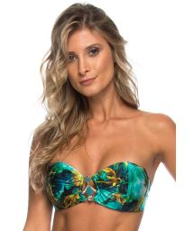 Shark print bandeau bikini top with accessories - TOP SHARKS COS