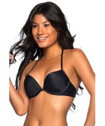 Black push-up balconette top with underwire - TOP SUPER UP PRETO