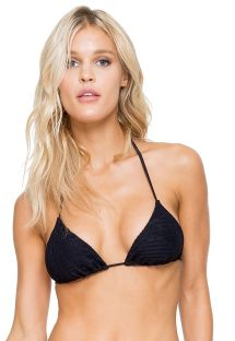 Adjustable black triangle top lace effect - SOUTIEN CARNAVAL SEAMLESS BLACK
