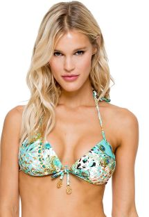 Top push-up estampado con strass detalle oro - SOUTIEN GUANTANAMERA