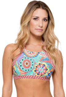 Crop top reversibile stampa colorata  - SOUTIEN MARIPOSITA REVERSIBLE