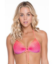 Textured tie-dye pushup bikini top - SOUTIEN SUNSET STRAPPY