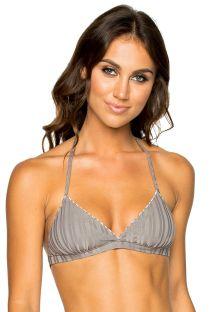 Reversible grey / stripped triangle bikini top - TOP BRAZILIAN TORRE DE ORO