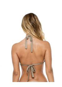 Iridescent bronzepush-up bikini top with knot - TOP COMPAI BRONCE