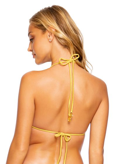 TOP SEAMLESS RUCHED LULI DIVA SUNSET GOLD