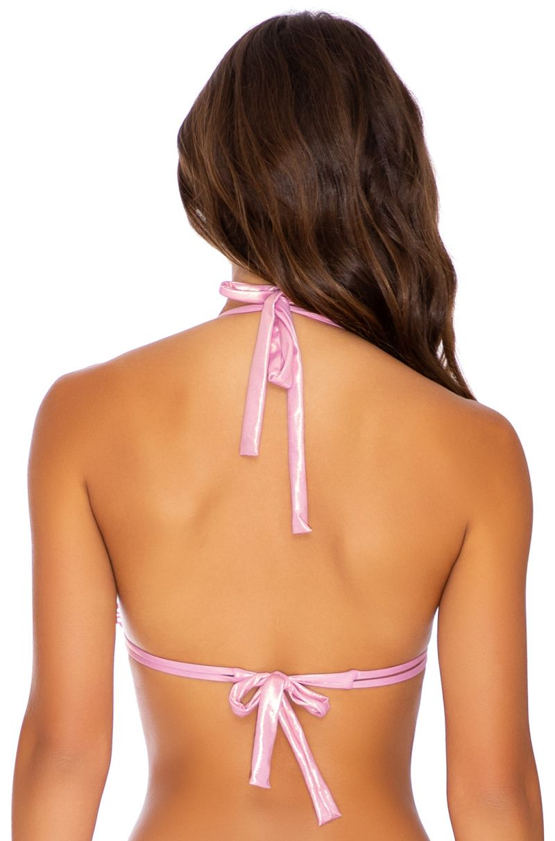 TOP HALTER ROSE CHAMPAGNE