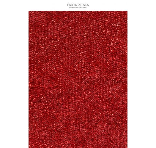 TOP HALTER STARDUST RED