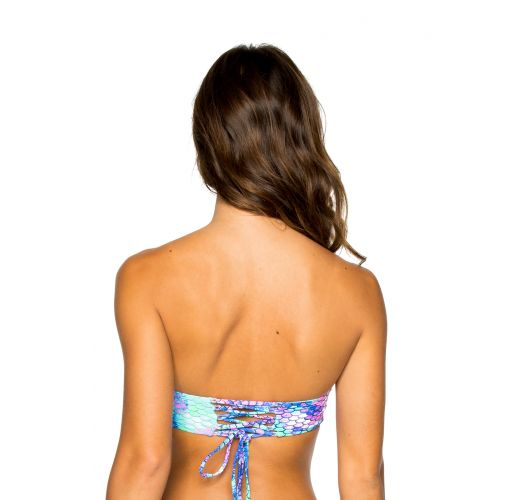 Balconette top laced back - mermaid print - TOP MAMASITA SIRENAS