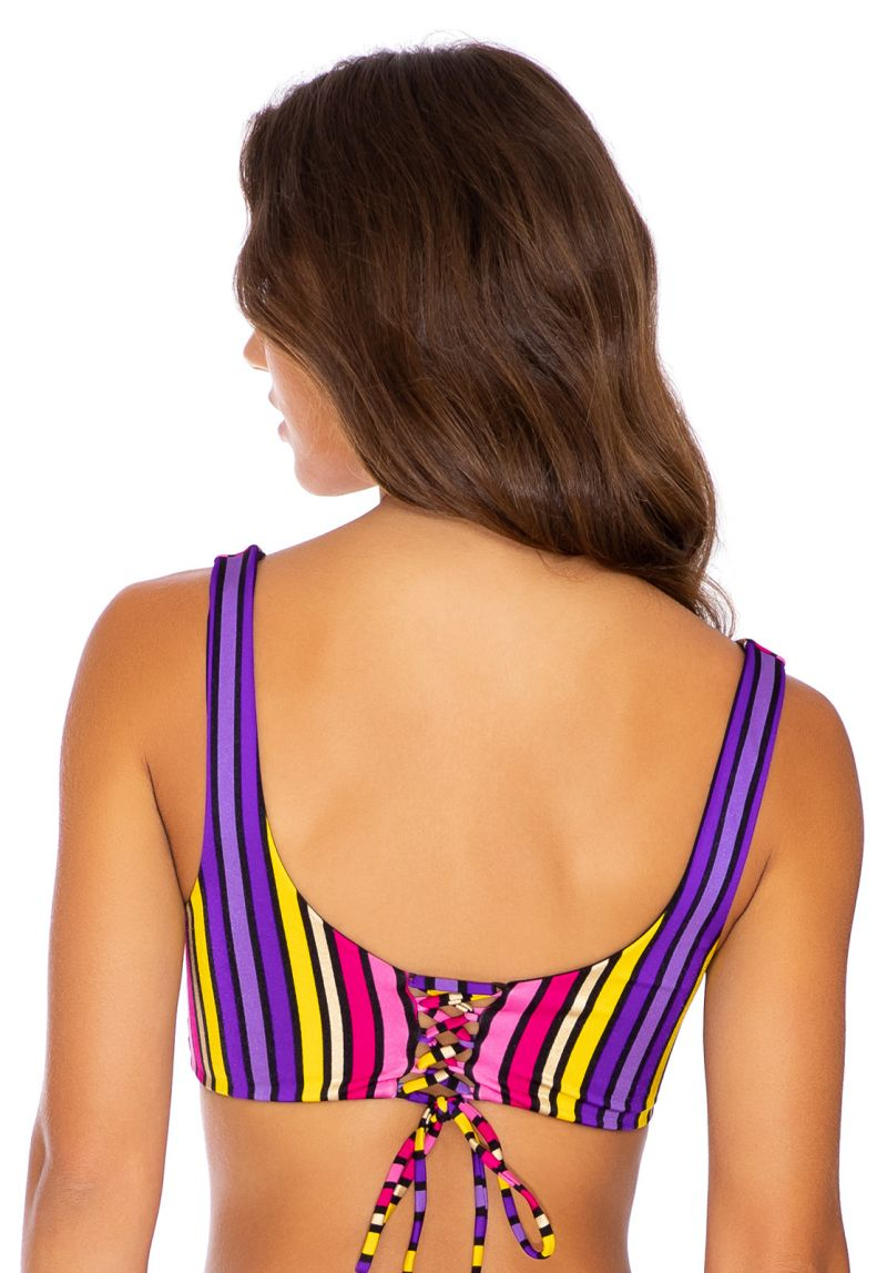TOP PARTY RUCHED MULTICOLOR