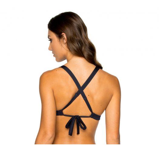 Svart push-p bikini topp med krysset rygg - TOP PUSH-UP MAR COSTA DEL SOL