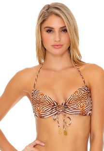 TOP REVERSIBLE HALTER SAFARI DREAMS