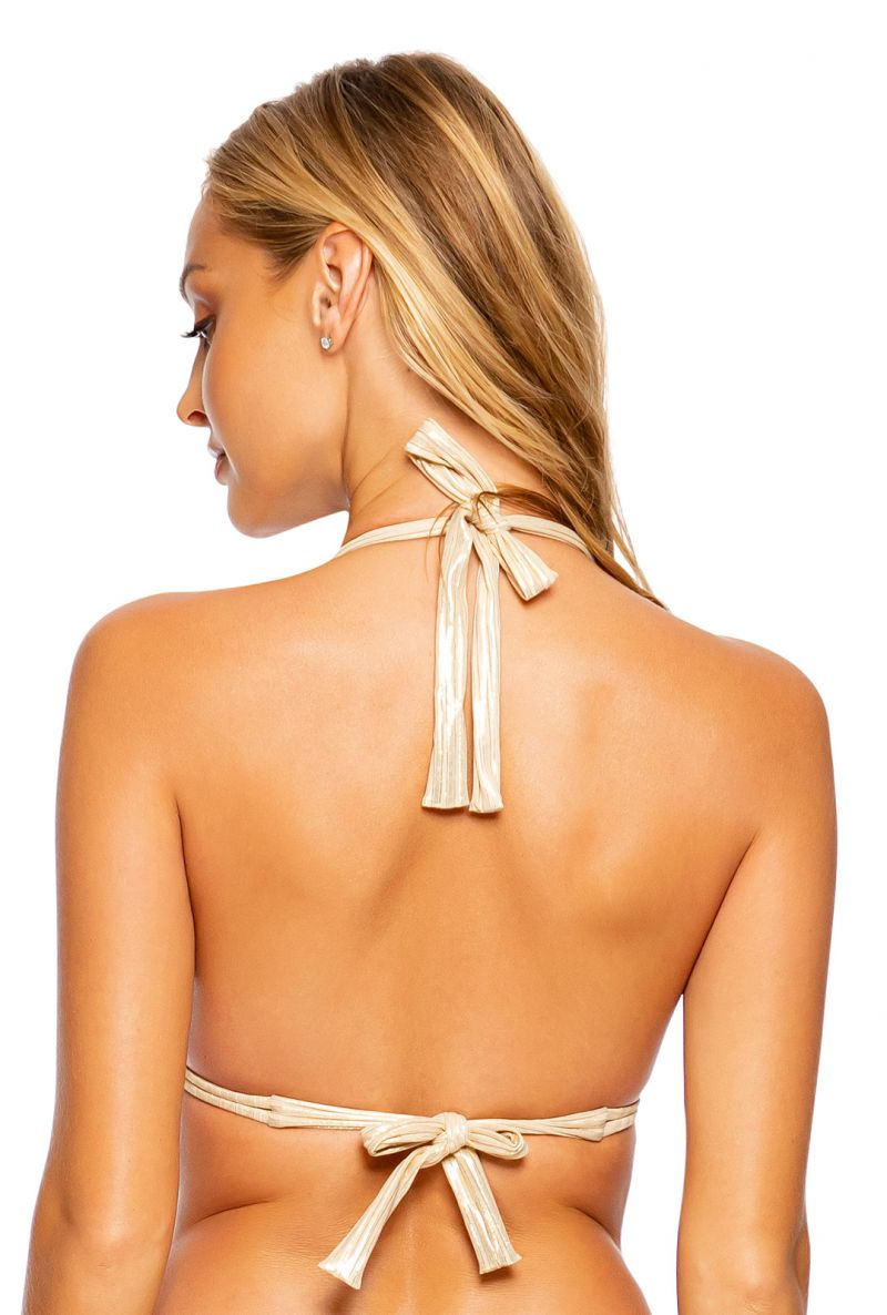 TOP RUCHED GOLD DIPPED