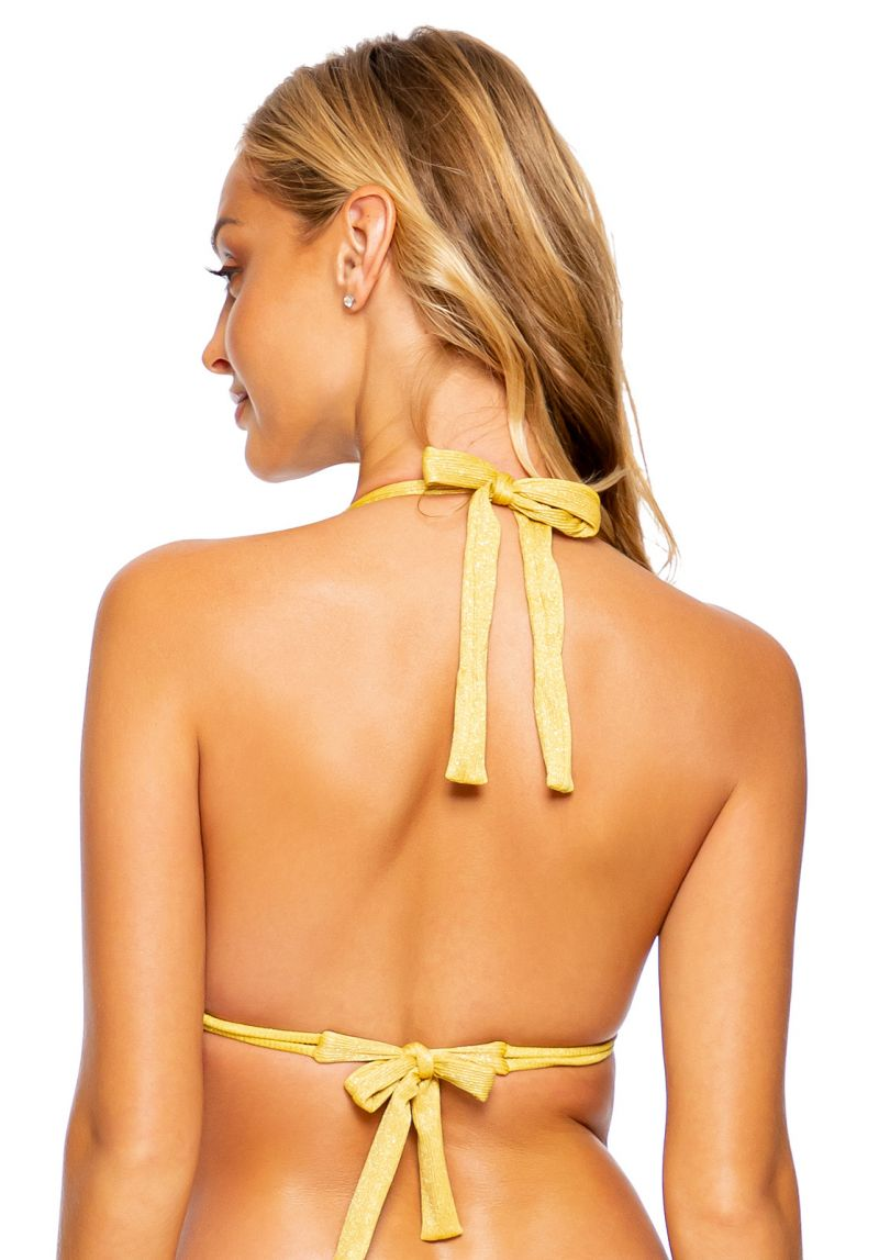 TOP RUCHED LULI DIVA SUNSET GOLD