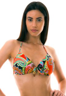 BBS X LULI FAMA - colorful padded push-up bikini top - TOP RUMBA BANDEAU