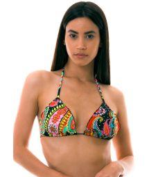 BBS X LULI FAMA - colorful triangle bikini top with rhinestones - TOP RUMBA CRYSTALLIZED