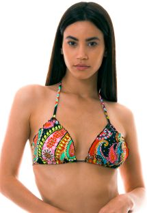 BBS X LULI FAMA - colorful triangle bikini top with rhinestones - TOP RUMBA CRYSTALLIZED