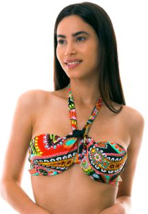 BBS X LULI FAMA - Underwired bandeau multi-position bikini top - TOP RUMBA STRAPPY