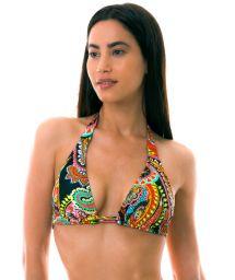BBS X LULI FAMA - Triangle halter bikini top - multicolor - TOP RUMBA TRI HALTER