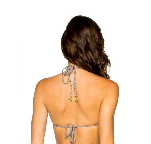 Reversible grey / stripped triangle bikini top - TOP SEAMLESS TORRE DE ORO