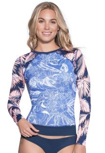 Flaura-print double rashguard top - PAEZ PORT