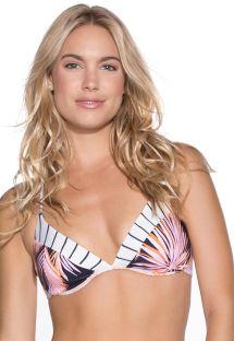 Biustonosz balkonetka do bikini z na fiszbinach w mieszany wzór - TOP CARIBBEAN CURUBA