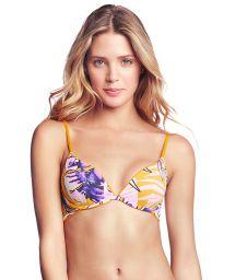 Vändbar, justerbar gul bh-bikini övredel - TOP FARRAH´S LOVELY