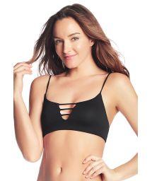 Reversible black strappy bra top - TOP METEORITE DUNES