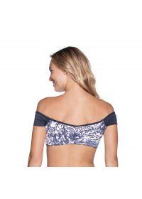 Reversible Bardot bra top with sleeves - TOP MOONLESS NIGHT