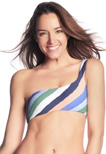 Stripped one shoulder crop top - TOP PRAIA DU FORTE