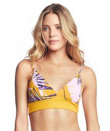 Gul tryckt, texturerad bh-bikini övredel - TOP SUN BASS SAMBA
