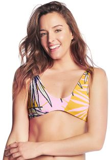 Reversible colorful bra bikini top - TOP SWEET BANANA
