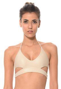Shiny gold cut-out bikini top - SOUTIEN SOLSTICE DORADO