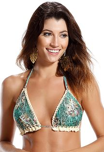 Reversible print/crochet triangle top - SOUTIEN PRAIA DE PIPA