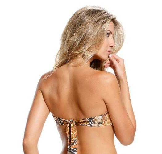 Bikinitop bandeau - SOUTIEN SERPENTE MARROM