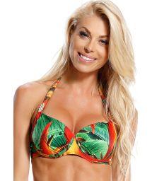 Balconnet Bikini Top, mit Bügeln, mit tropischen Motiven bedruckt - TOP AGUIA REAL