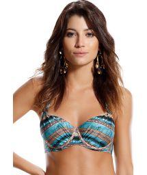 Balconnet Bikini Top, mit Bügeln, ethnischer Stil gestreift - TOP CINCO ESTRELA