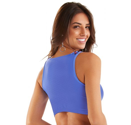 TOP CROPPED TORCIDO AZUL