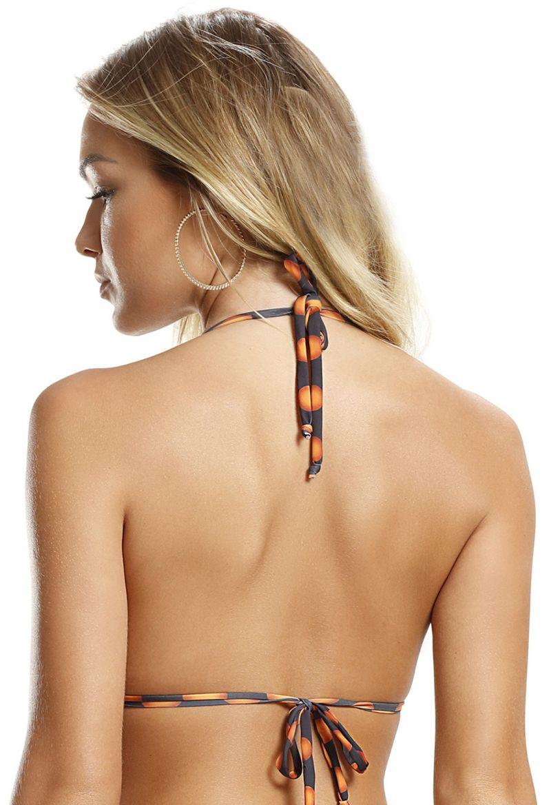 Orange och svart trekantstopp med vågiga kanter - TOP FIRE POA