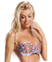 Padded Bandeau Bikini, bedruckt, bunt - TOP FLOR DE LIZ