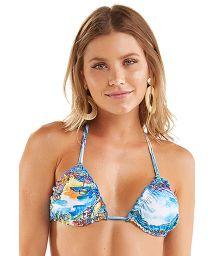 Triangle bikini top with Rio de Janeiro print - TOP FRUFRU AQUARELA RIO