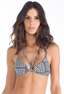 Bicoloured geometric strappy triangle bikini top - SOUTIEN ANCHIETA