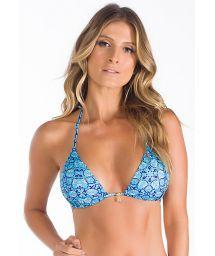 Triangle blue patterned bikini top - SOUTIEN AZUL ORIENTAL
