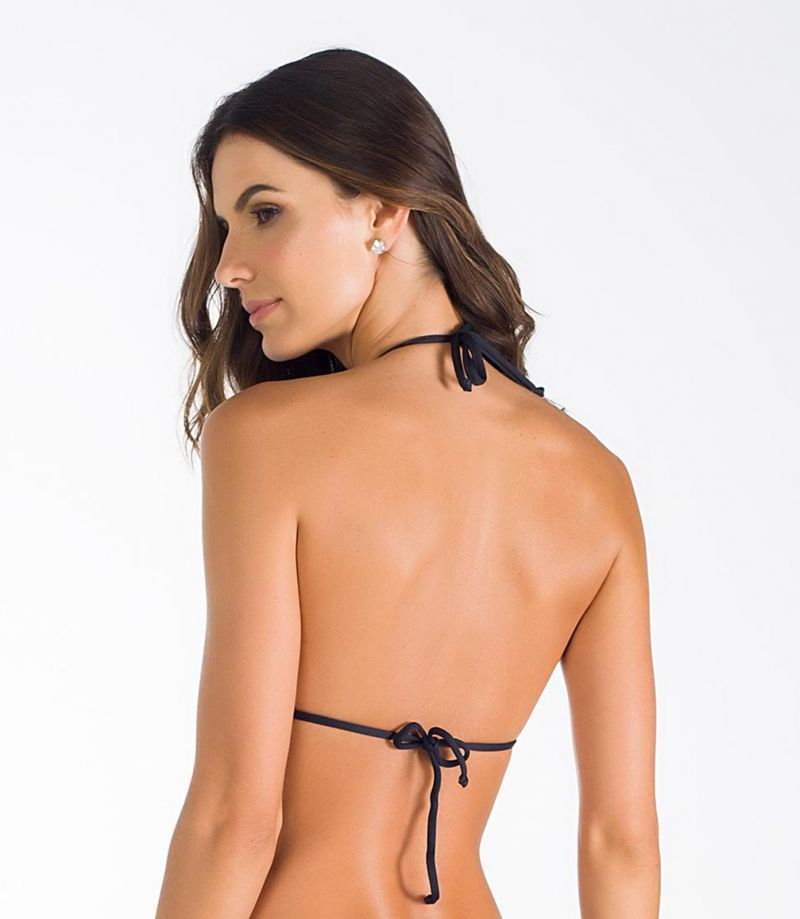 Black triangle top with transparent inserts - SOUTIEN IBIRAJARA