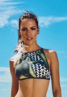 Multi strap back swimsuit crop top - SOUTIEN ITAPUA