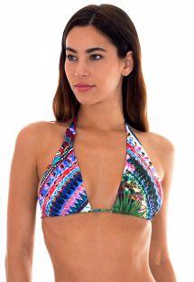 Top triángulo bufanda estampa multicolores - SOUTIEN ONEGA